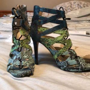 Size 7 Aldo high heel multicoloured